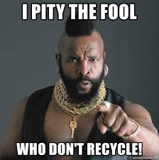 Mr. T does not approve!