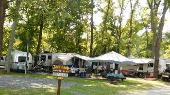Gettysburg campground basic RV sites